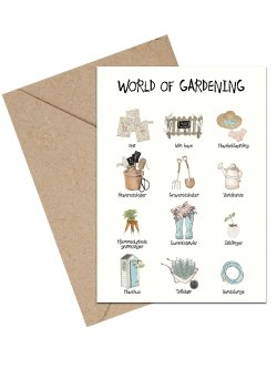 World of Gardening A6 kort