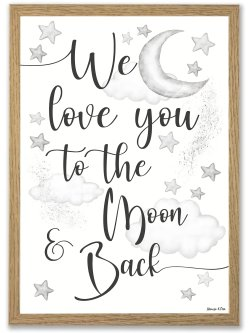 Baby To the moon plakat A4