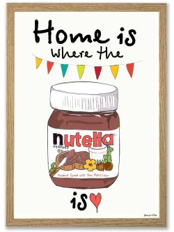 Home Is Where the Nutella Is A4 plakat