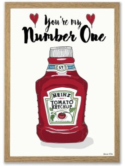 Heinz You're My Number One A4 plakat