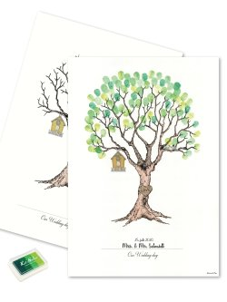Wedding Tree - Fingerprint Green