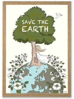 Save the Earth A3 plakat