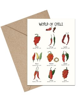 World Of Chili A6 kort
