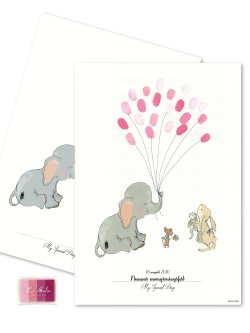 Baby Fingerprint - Elephant Balloon GIRL