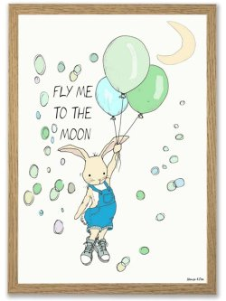 Fly me to the moon/BOY A4 plakat