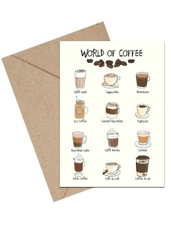 World Of Coffee A6 kort