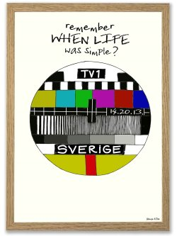 Remember when life was simple (Svensk) A4 plakat
