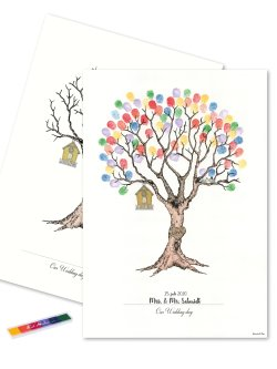 Wedding Tree - Fingerprint Multicolor