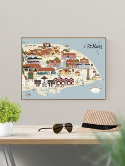 A3-Map of Skagen (By Poster)