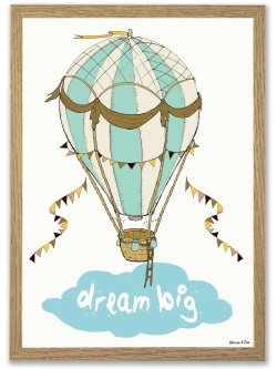 Dream big A4 plakat