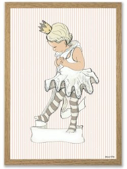 Little ballet girl A4 plakat