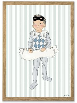 Little Harlekin boy A4 plakat