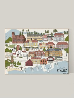 A3-Map of Præstø (By Poster)