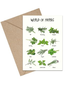 World Of Herbs A6 kort