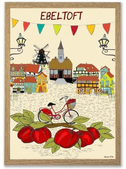 Ebeltoft By Poster A4 plakat
