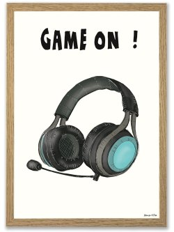 Game On A4 plakat