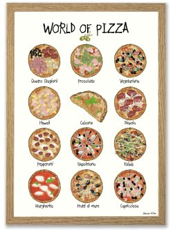 World of Pizza A3 plakat