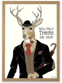 Mr. Deer 50 x 70 plakat