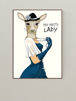 Mrs. Deer 50 x 70 plakat