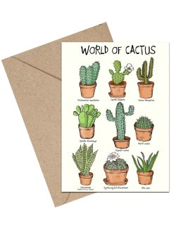 World Of Cactus A6 kort