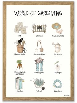 World of Gardening A4 plakat